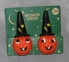 MIP 1950's Gurley Candle Pair