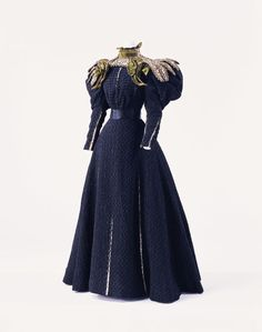 """history-of-fashion: """" ab. 1895 Day Dress by Gustave Beer (The Kyoto Costume Institute) """""""