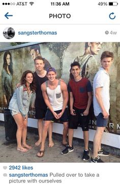 Kaya Scodelario, Will Poulter, Chris Sheffield, Alexander Flores, and Thomas Brodie-Sangster