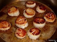 Pan Seared Scallops with Garlic, Olive Oil and Butter