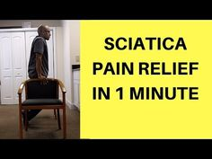 One Minute Sciatica Exercise (Quick Herniated Disc Pain Relief) Sciatica Pain Relief, Sciatic Pain, Sciatic Nerve, Herniated Disc Lower Back, Lower Back Pain Remedies, Lumbar Pain, Atlanta, Sciatica Exercises