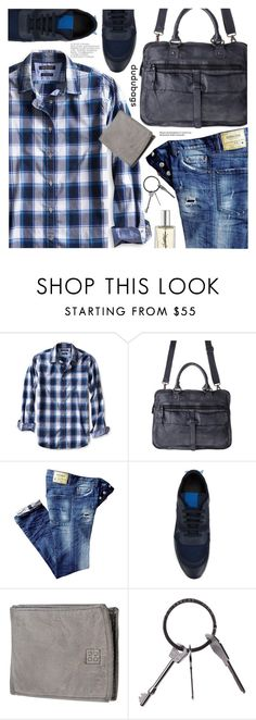 """""""Casual Style"""" by pokadoll ❤ liked on Polyvore featuring Banana Republic, Givenchy, Yves Saint Laurent, men's fashion, menswear and dudubags"""