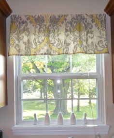 Diy Window Valance Lovely Diy Valance Great Step by Step Instructions E for My Kitchen. Valance Window Treatments, Kitchen Window Treatments, Window Coverings, Kitchen Window Valances, Kitchen Curtains, Kitchen Windows, Farmhouse Curtains, Rustic Curtains, Valance Patterns