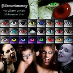 FX Contact Lenses: Costume, Theatrical, Special Effects Contacts