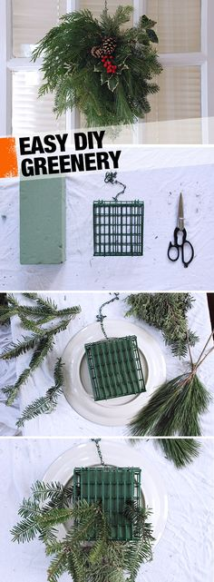 Follow this easy DIY for an extra touch of holiday greenery in your home! I could go overboard with this here in South Carolina! Lol