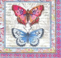 20 'Butterflies' PAPER NAPKINS #30515 Beverage - Crafts Decoupage Projects