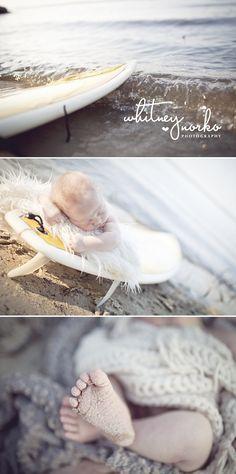 Newborn Photography #beachbaby #surf #waterbaby