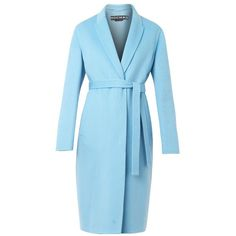 ROCHAS Double-faced wool and angora-blend coat (1,131,220 KRW) ❤ liked on Polyvore featuring outerwear, coats, jackets, coats & jackets, blue wool coat, reversible coat, rochas, cocoon coat and wool coat