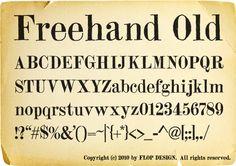 フリーハンドオールドフォント無料ダウンロード 欧文フリーフォント|フリーハンドオールドフォント無料ダウンロード http://www.flopdesign.com/font3/freehandoldfont.html