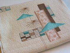 Midcentury Modern Fabric Starburst & Cabana