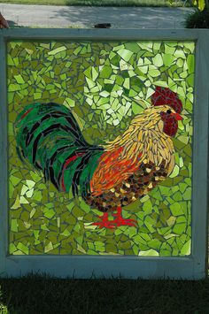 another great mosaic rooster