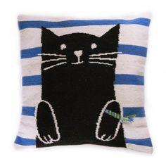 Cat Cushion Multicoloured  Oeuf NYC