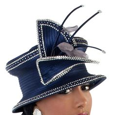 NAVY WITH SILVER HAT