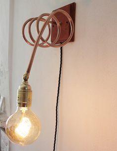 Wand Lampe Lampe/Mauer horizontale Spirale recyceltes von Ideesign
