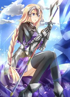 ✮ ANIME ART ✮ spear. . .blade. . .weapon. . .armor. . .boots. . .gloves…