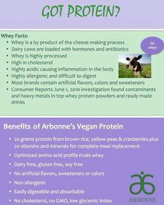 Benefits to Vegan Protein by Arbonne. Whey is BAD news!  http://myorder.myarbonne.com/