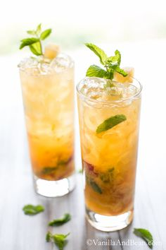 Chill out with this Bourbon Peach Smash Cocktail. A favorite Summertime sipper.