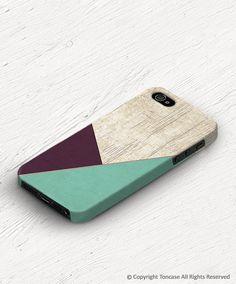Geometric iPhone 4 case Geometric iPhone 5s case wood par TonCase, $21.99