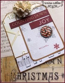 TERESA COLLINS DESIGN TEAM: Teresa Collins eBosser 'In Time for the Holidays' Blog Hop! Advent Tutorial by Cheri Piles