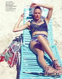 Eclectic Couture Swimwear -  The ELLE France 'Sea Beaux, Sea Stars!' Editorial Stars Shannan Click #elle #ellefrance #fashion