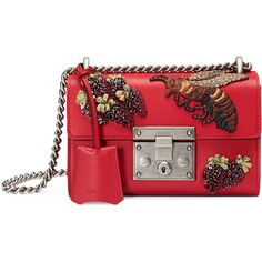 Gucci Padlock Small Embroidered Shoulder Bag (47.410 ARS) ❤ liked on Polyvore featuring bags, handbags, shoulder bags, gucci, red multi, gucci shoulder bag, clasp purse, clasp handbag, sequin purse and embroidered handbags