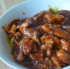 Babi pangang maken, stroop, suiker en maizena vervangen door xylitol, stevia, xanthan gum.