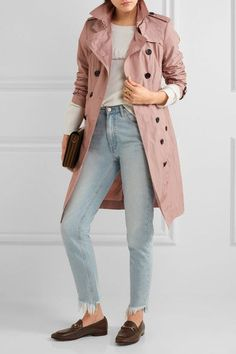 Burberry - The Sandringham Shell Trench Coat - Antique rose