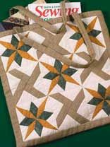 A Double Star Tote Bag Pattern creates a classic bag that you will want to take everywhere!  Find the pattern at free-quilting.com.