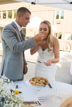 Wedding pie by Grand Traverse Pie Company for Desiree + Levi. Photography by Oden + Janelle Photographers Wedding Pies, Lace Wedding, Wedding Dresses, Pie Company, Photographers, Photos, Fashion, Bride Dresses, Moda