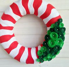 Wreath Felt Handmade Holiday Door Decoration Jolly di ItzFitz