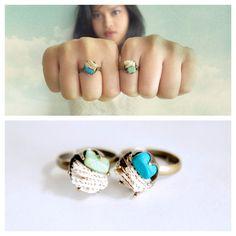 Raw Sea Coral Adjustable Ring