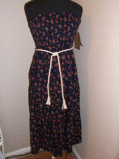 new Country girl sleeveless wear 2 ways sundress xs casual resort  wear blue