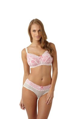 4aebe21dec2a2 Panache-Lingerie-Sophie-Maternity-Bra-Ivory-Pink-5826-Short-5824-Front   maternity  bra  glasgow