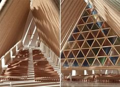 cardboard and paper cathedral - to be built in NZ