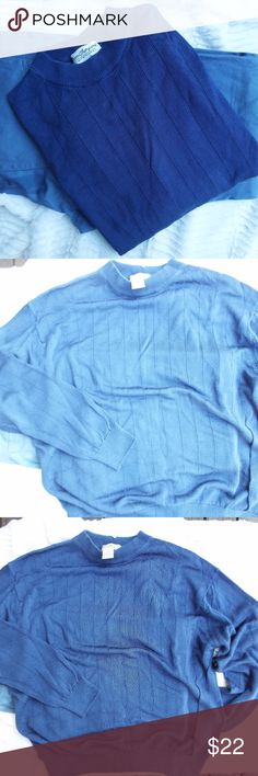 🎉BOGO SALE🎉 MEN'S BLUE RIBBED  SWEATER GORGEOUS BLUE SWEATER! LOVE THE FEEL, IT HAS A SMOOTH ALMOST SILKY FEEL AND GIVES OFF A POLISHED LOOK. GREAT TO PAIR WITH DENIM, OR AT WORK WITH A NICE PAIR OF SLACKS! TAKE ME! Norm Thompson Sweaters