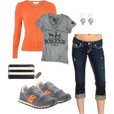 Soccer Mom, created by christygetscrafty. Pretty sure a soccer mom look is in my future, so at least this is a cute one!*** gotta be prepared , put the athletic pants down!!!!