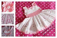 фото детского платья крючком Toddler Dress-Graph Patterns