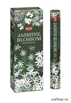 Bețișoare parfumate HEM - Jasmine Blossom Incense Sticks, Spread Love, Jasmine, Flora, Essential Oils, Fragrance, Make It Yourself, Crystals, Exotic