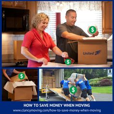 Be sure to read these Moving Tips; because we all want to know how to save money when moving!  1. Decide what to Keep, Sell, Toss or Donate.   Read more at: http://clancymoving.com/how-to-save-money-when-moving