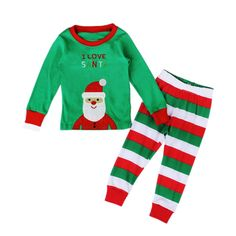 EITC Toddler Kid Boys Girls Cotton Christmas Santa Pajamas Shirt & Pants Sets 2 Pcs 5T Green. Santa Claus image on pajama front,baby'favorite. Cotton,Long Sleeve,Stripes Leg. Style: Casual,Everyday,Holiday,Home. Country of Manufacture: China. bout the detail of size info, please follow the Product Description.ountry of Manufacture: China.
