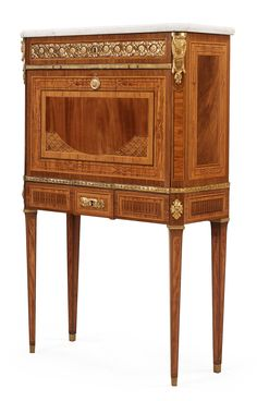 1482. A Gustavian secretaire by Georg Haupt, master 1770. Sweden, late 18th century.