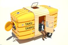 Stereotank's Taku Tanku is a Tiny Mobile Shelter Made From Recycled Rainwater Tanks | Inhabitat - Green Design, Innovation, Architecture, Green Building