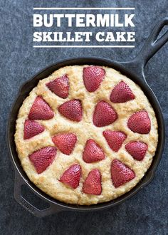 BUTTERMILK SKILLET CAKE - You can add any fruit that you like!