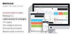 Bratilius - Bootstrap #Responsive #Admin #UI
