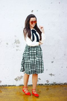 The Style Addition: WATERCOLOR GRID SKIRT