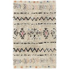 We love Moroccan rugs, especially when they are jazzed up with a little punch of color. This soft, shag rug is perfect for a colorful living space or we especially love it for a nursery.