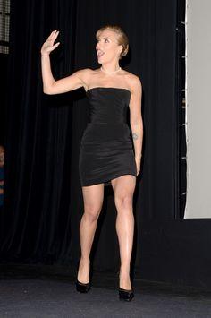 "glam-fetish: ""celebrityhunnies: ""scarlett johansson "" Latex Leather Lingerie Heels "" I ❤️ her tight mini dress and high heels, she has beautiful legs #highheelslingerie"
