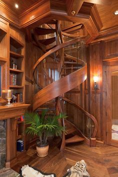 a very cool and amazing special design from tiny house decor for creative design your modern farmhouse Future House, My House, Staircase Design, Spiral Staircase, Wood Staircase, Modern Staircase, Grand Staircase, Tiny House Design, Wood House Design