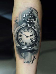 Time Tattoo by U Gene | Tattoo No. 12485