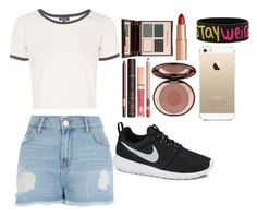 """Untitled #159"" by harmonizer4ever on Polyvore featuring River Island, Topshop, Charlotte Tilbury, NIKE and FingerPrint Jewellry"
